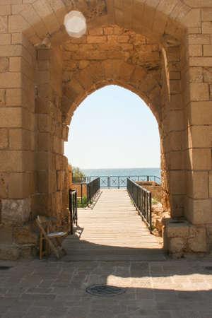 caesarea: Beautiful view from Caesarea in Israel