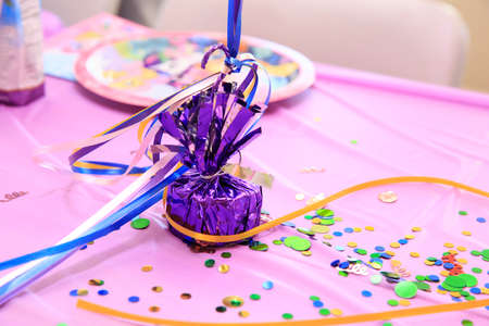 Colorful decoration for a birthday party photo