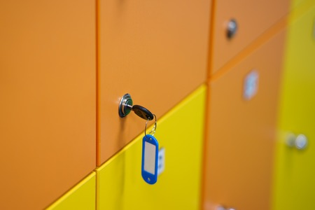 lockers colorful with key