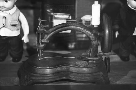 broaching: very old sewing machine. vintage sewing machine