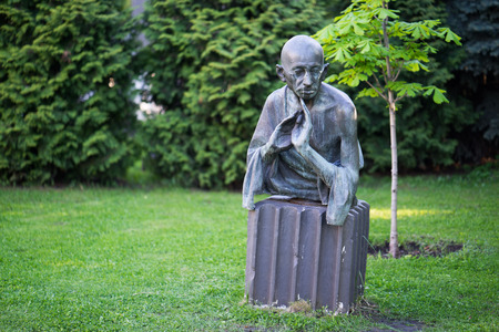 Moscow, Russia, 18 may 2017: monument to Omar Khayyam in Moscow in the Park Muzeon Editorial