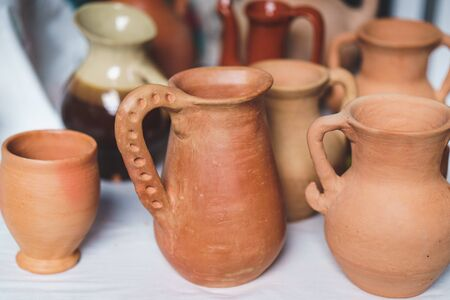 Pottery, jugs and bowls