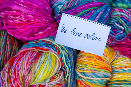 We love the colorful sheep wool