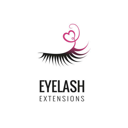 Eyelash extension logo design. Vector illustration. Ilustrace
