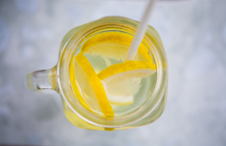 refreshing: Refreshing drink with lemon and ginger Stock Photo