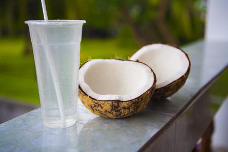 coconut milk: Coconut and coconut milk