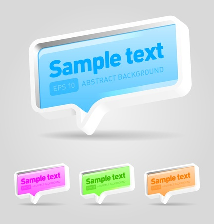 Vector speech bubbles set Stock Vector - 13170708