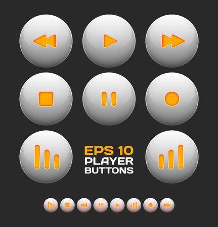 Vector botones de reproductor de medios