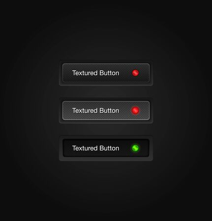Textured vector web buttons Illustration