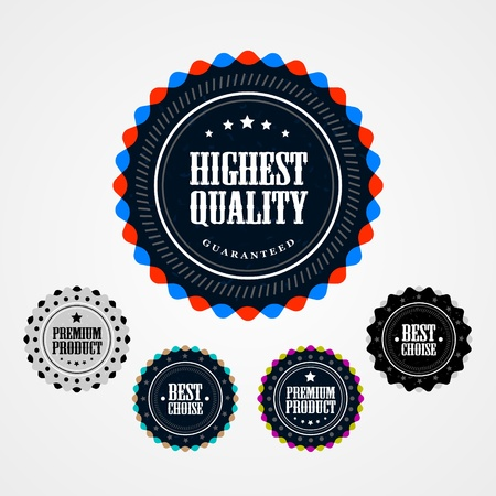Collection of Premium Quality badges Stock Vector - 13170705