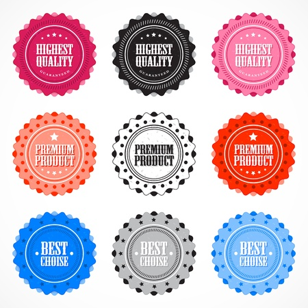 Collection of Premium Quality badges Stock Vector - 13222989