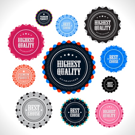 Collection of Premium Quality badges Stock Vector - 13222992