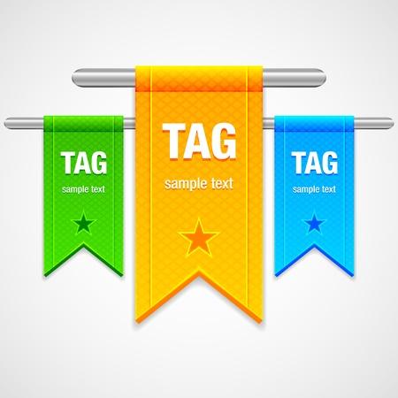 Flag Tag Illustration Stock Vector - 14554299