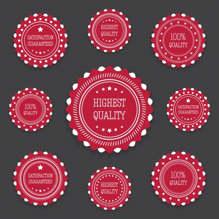 Collection of Red bages in retro style Illustration