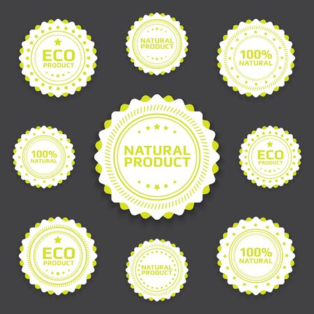 Collection of Ecological bages in minimalistic retro style