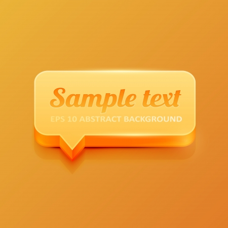 Orange 3d speech bubble Stock Vector - 16535877
