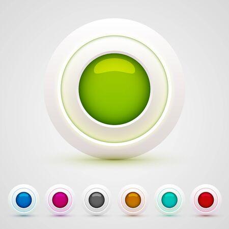 3d web buttons set
