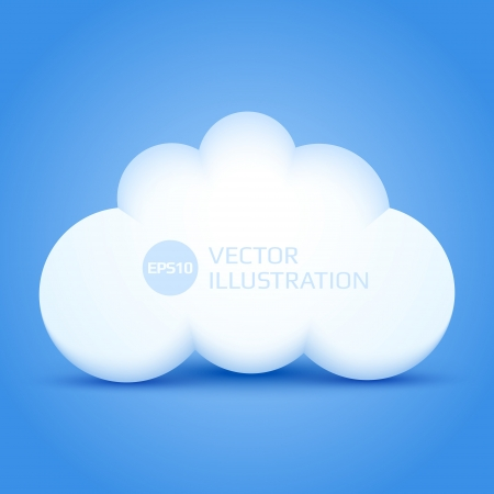 White cloud illustration Stock Vector - 16582981