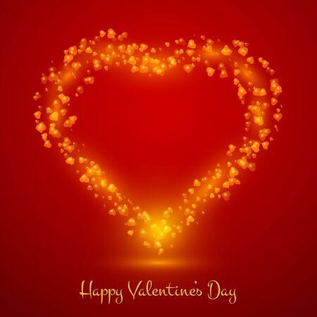 Heart  Illustration  Happy Valentines Day Background  Illustration