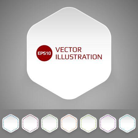 Set of badges in minimalistic style Illustration