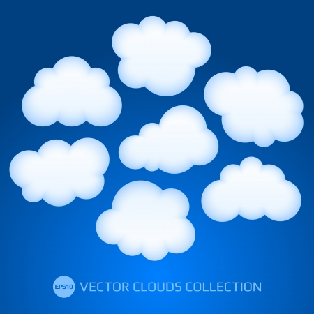 White cloud illustration Stock Vector - 17205751