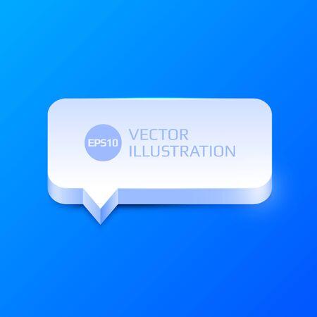 clean 3d speech bubble
