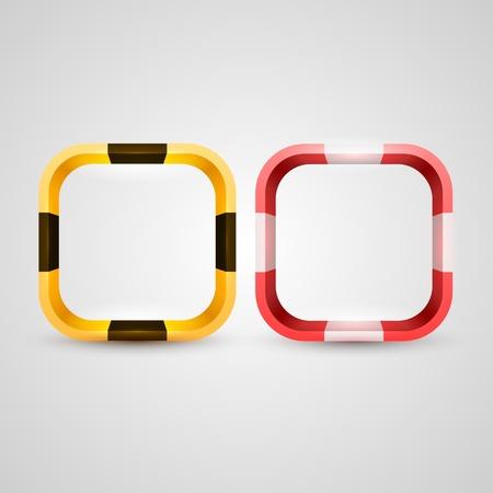 Rounded rectangle icon base Illustration