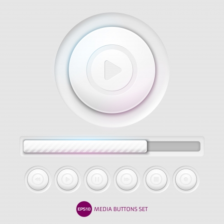 Media buttons Illustration