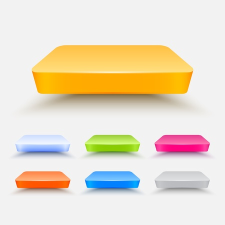 Colored shelves pack Illustration