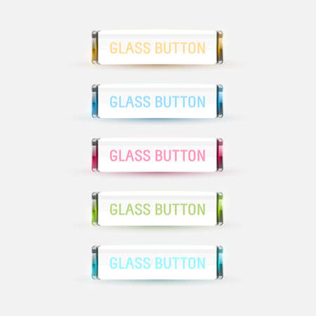 Colored glas buttons collection