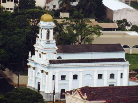 教会「ノッサ・セニョーラ・ド・ロザリオ」、セラ・ネグラ、ブラジル 写真素材 - 93056161