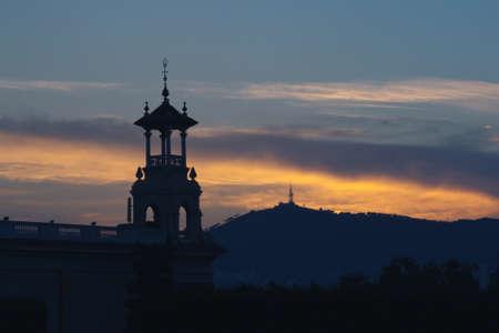 tower on sunset