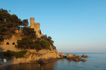 Old castle on sunset