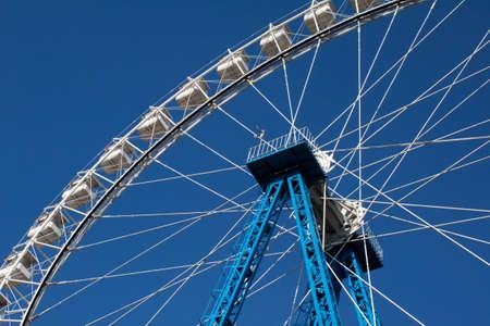 White big dipper in blue sky