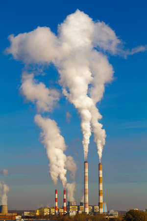 smokestacks: Smokestacks Pollution in the air