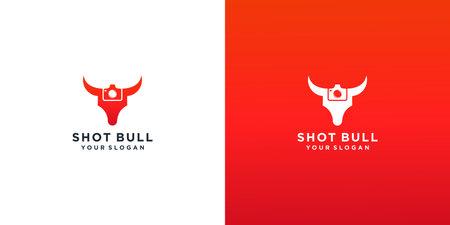 bull shot logo design Logo