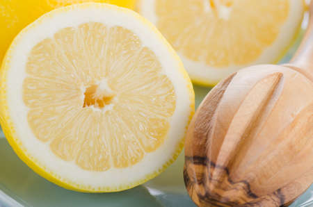 Lemons close-up