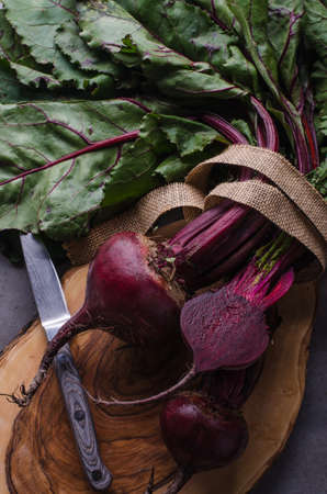 Bunch of beetroots Stock Photo
