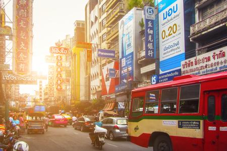 streetlife: BANGKOK, THAILAND - NOVEMBER 1, 2016: Chinatown street in Bangkok Thailand