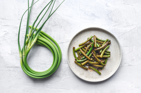 Garlic scapes salad (Buchu Muchim).