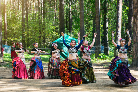 Traditional ethnic dance. Editorial