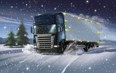 冬のクリスマス トラック