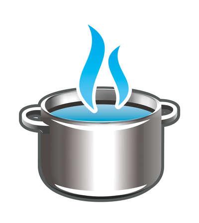 Kochen im Topf Standard-Bild - 36366131
