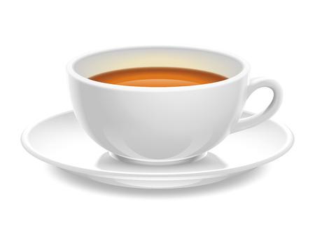 茶イラストのセラミック カップ 写真素材