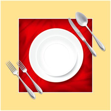 Cutlery set illustration
