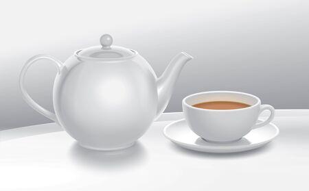 composition: Tea composition illustration