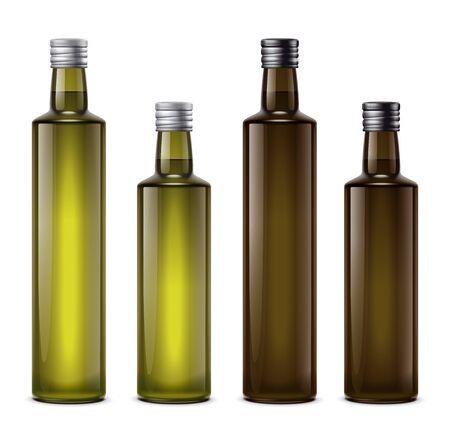 Oil bottles illustration