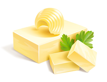 バターの図 写真素材