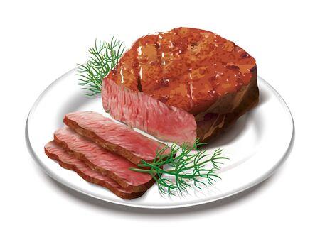 Steak illustration Stok Fotoğraf
