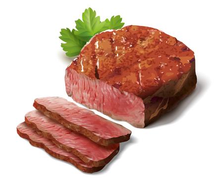 beefsteaks: Steak illustration Stock Photo